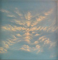Kleines Wolkenbild, Acryl on Canvas