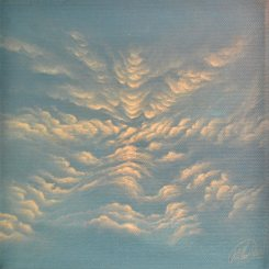 Kleines Wolkenbild, Acryl on Canvas