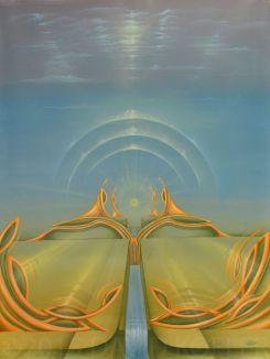"""""""Der Weg, das Licht"""", Acryl on Canvas"""