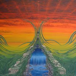 """Die Quelle"", Acryl on Canvas"