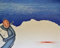 """""""Schlachtfeld Piste II """", Acryl on Canvas"""