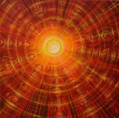 """""""Sonnenbild"""", Acryl on Canvas, 70cm x70xm, 2012"""