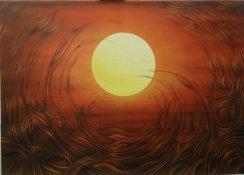 """Sonnenuntergang"", Acryl on Canvas"