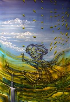 """""""Novdezian und die Neuerschaffung"""", Acryl on Canvas, 2016"""