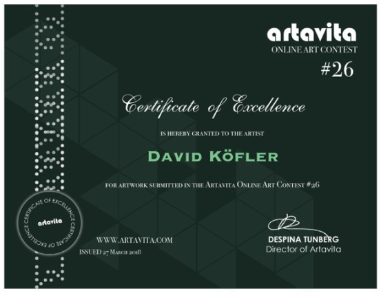 ArtavitaContest26-ExcellenceCertificate-David Köfler